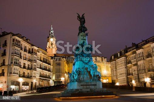 """istock """"Virgen Blanca"""" square in Vitoria, Spain. 539215731"""