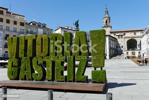 istock Virgen Blanca square, Vitoria Gasteiz, Basque Country, Spain 695869308