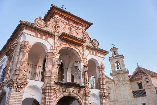 Virgen del Socorro Chapel with the church of Santa María de Jesús in the background, Antequera