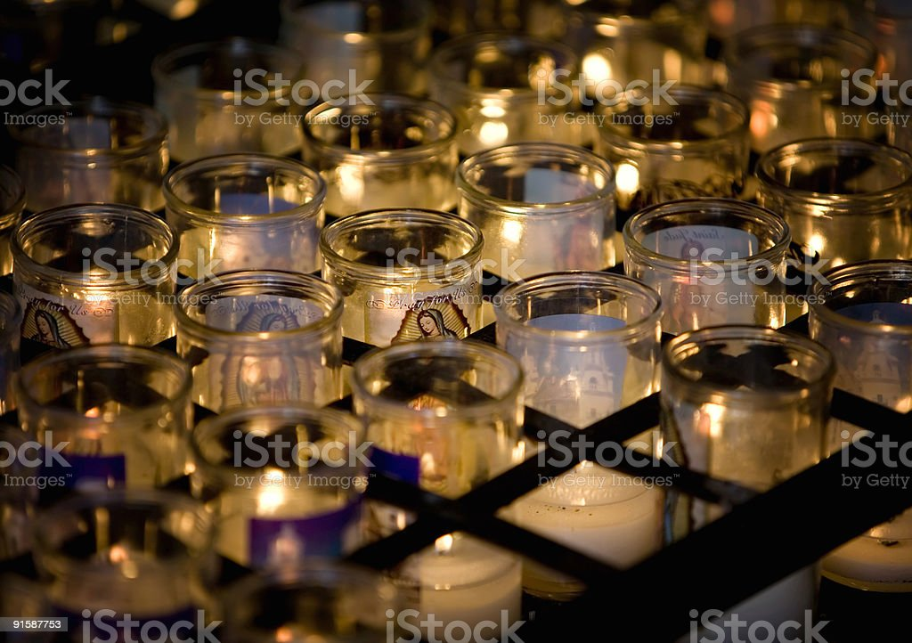 Virgen Mary Candle with Others royalty-free stock photo