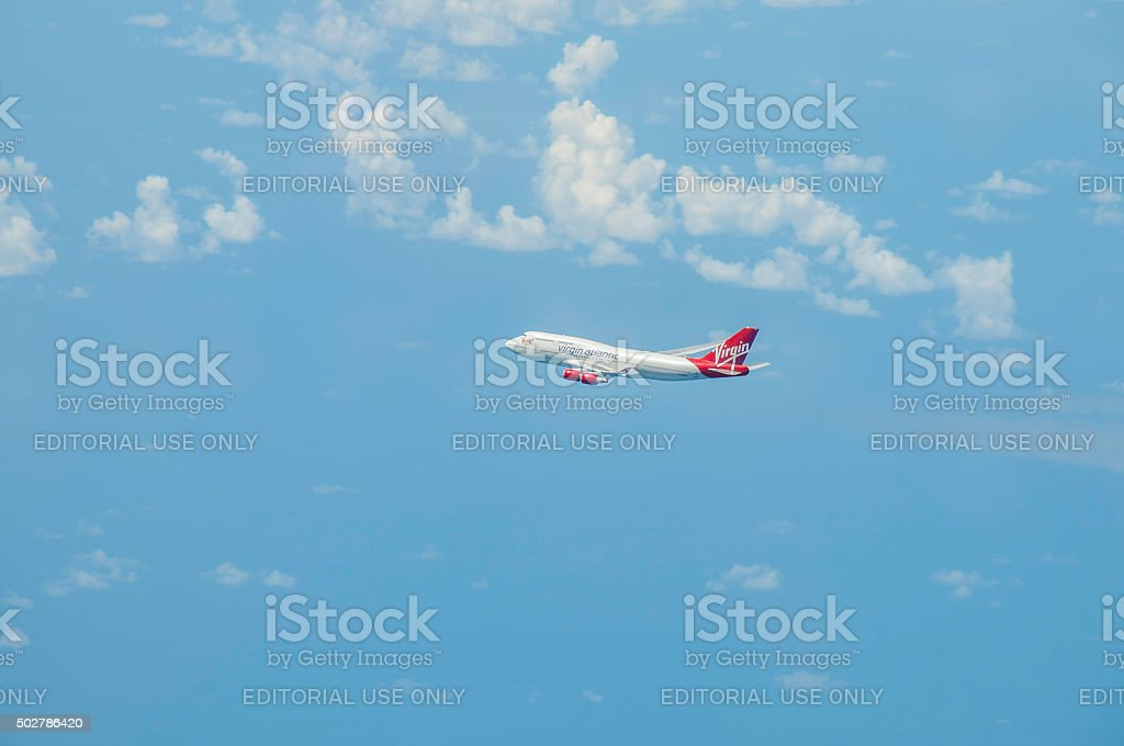 Virgin 747 stock photo