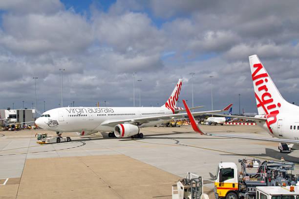 Virgin Airlines Australia - Melbourne stock photo