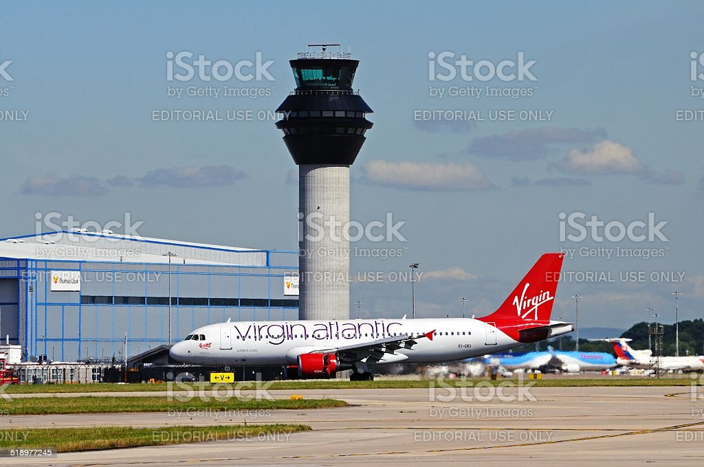 Virgin Atlantic Airbus A320. stock photo