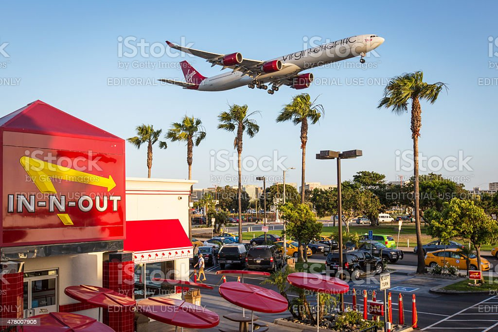 Virgin Atlantic Airbus A340 stock photo
