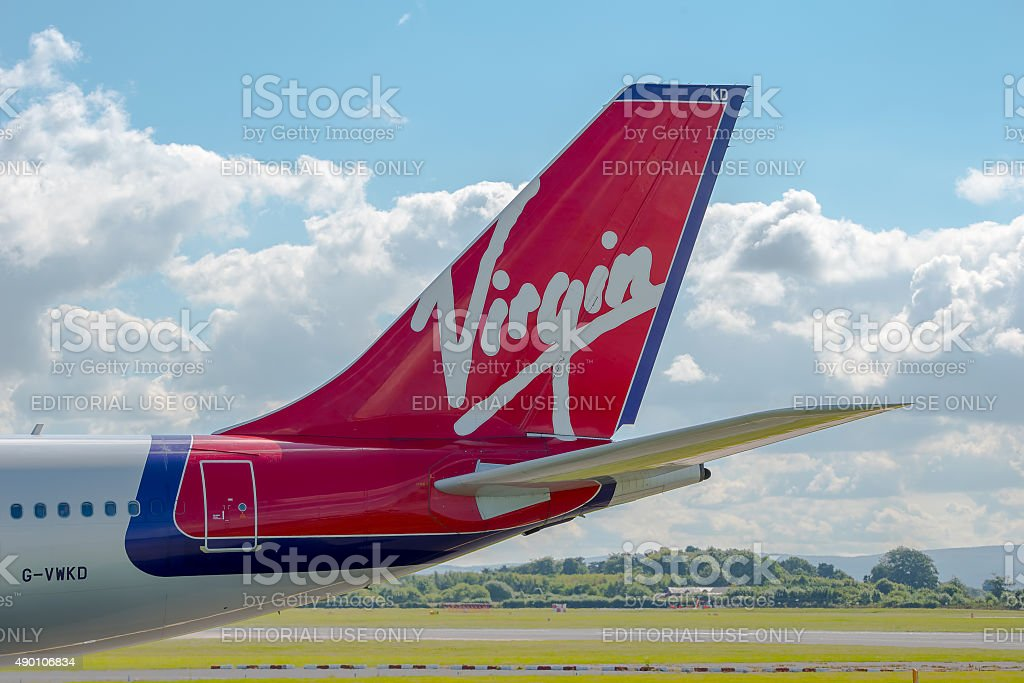 Virgin Atlantic Airways Airbus A340 tail stock photo