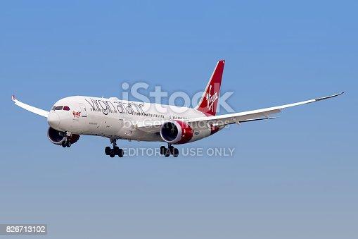 istock Virgin Atlantic Airways aircraft 826713102