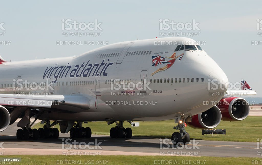 Virgin Atlantic Boeing 747 stock photo