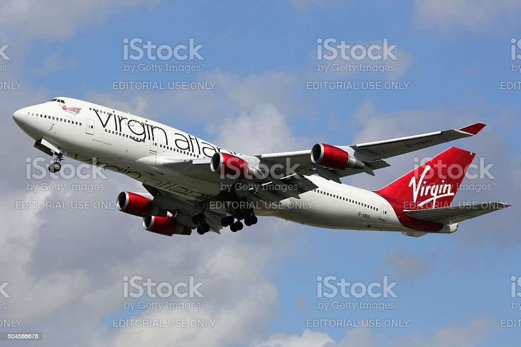 competitive price 0460b f9c8a Virgin Atlantic Boeing 747400 Aereo Aeroporto Di Londra ...