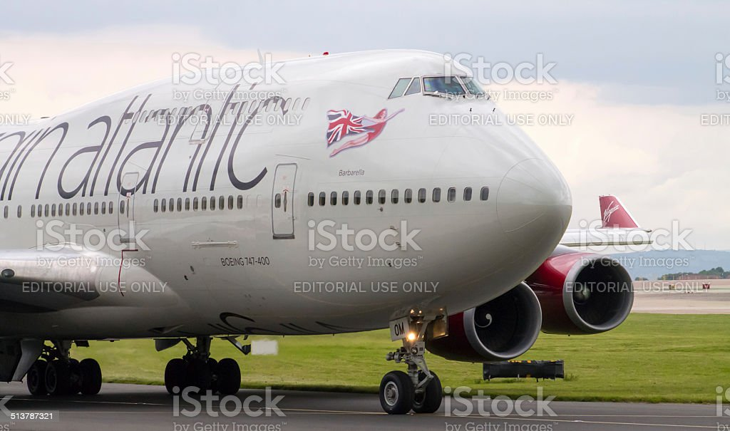 Virgin Atlantic Boeing 747-400 stock photo