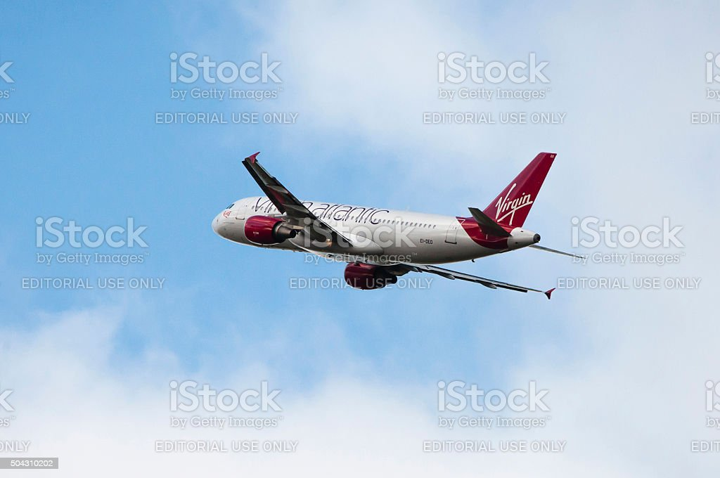 Virgin Atlantic Little Red EI-DEO Airbus A320-214 cn 2486. stock photo