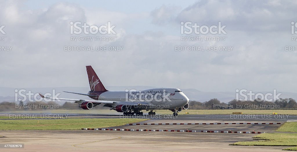 Manchester, United Kingdom - February 16, 2014: Virgin Atlantic stock photo