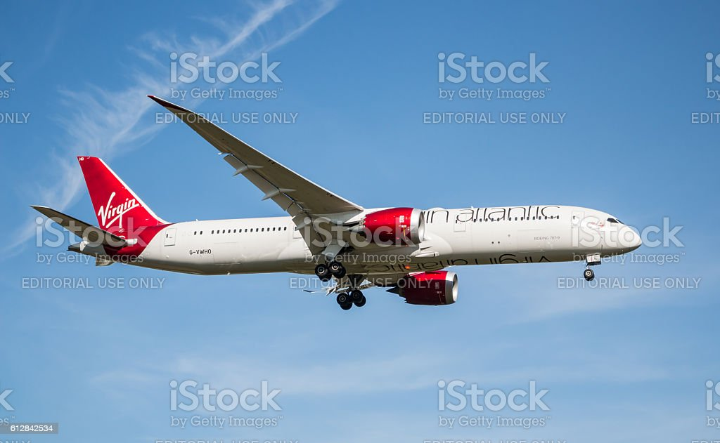 Virgin Atlantic plane stock photo