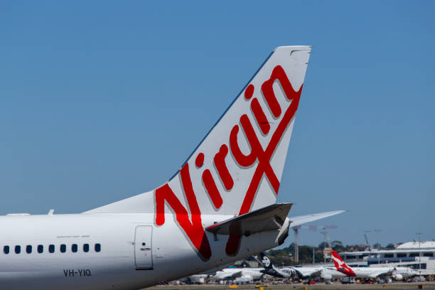Virgin Australia Aircraft tail stock photo