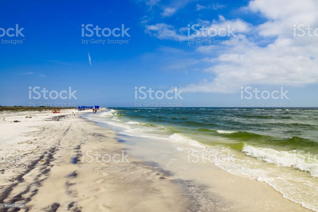 Virgin beach of West Ship Island Mississippi stock photo