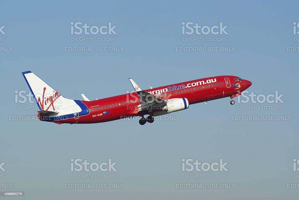 Virgin Blue B737 stock photo