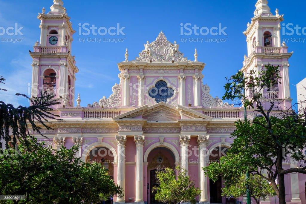 Virgin cathedral, Salta, Argentina stock photo