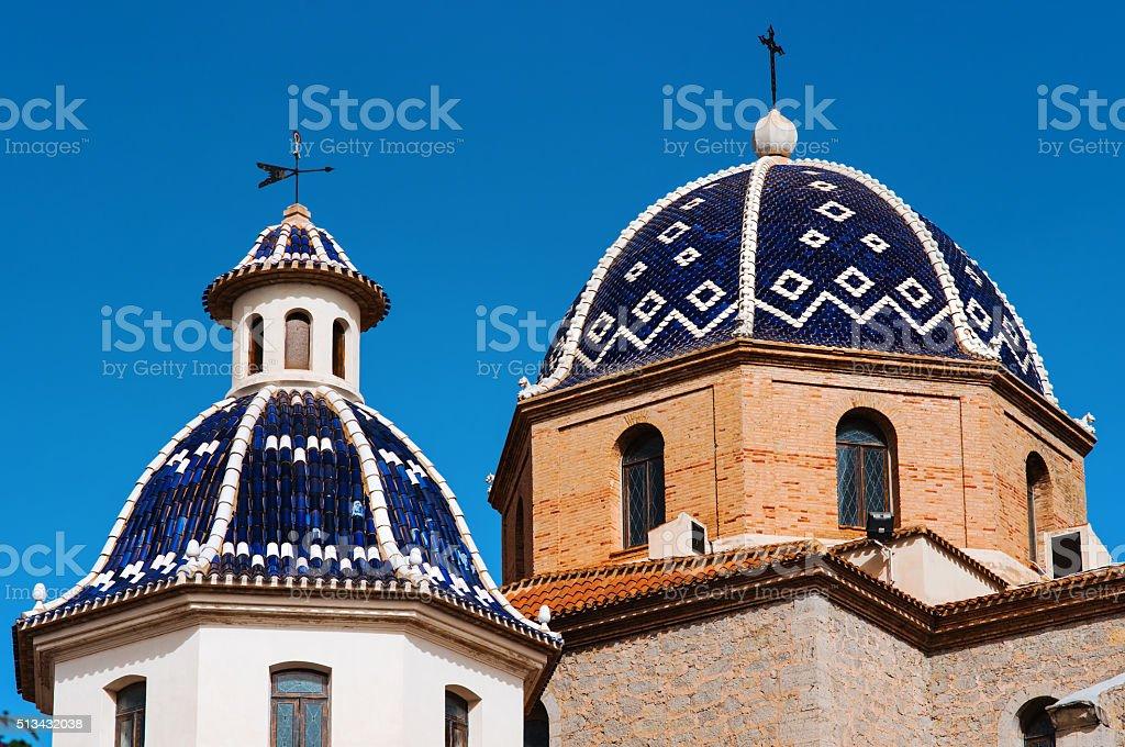 Virgen de Consuelo en Altea la ciudad. España - foto de stock