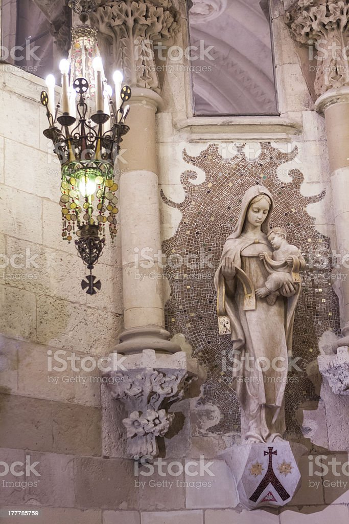 Virgin in a church stock photo