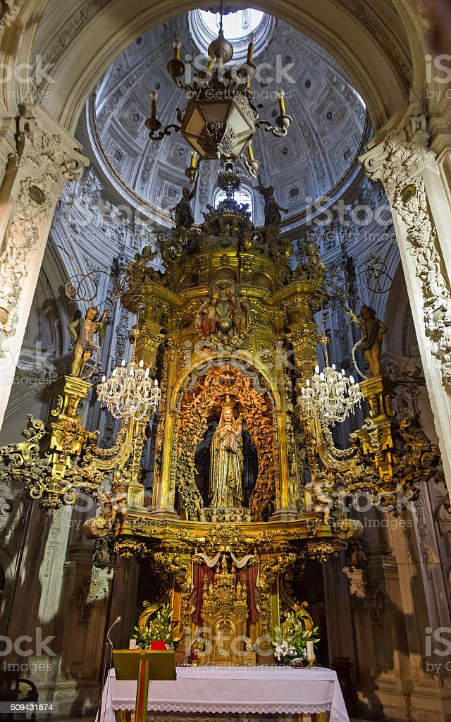 Virgin Inside Lugo Cathedral - Virgen  Interior Catedral de Lugo stock photo