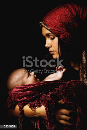 istock virgin Mary baby Jesus Christ born Christmas 108348394