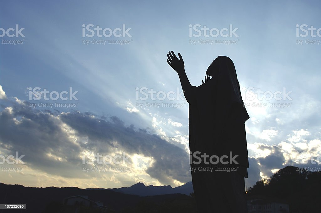 Virgin Mary Blessing stock photo