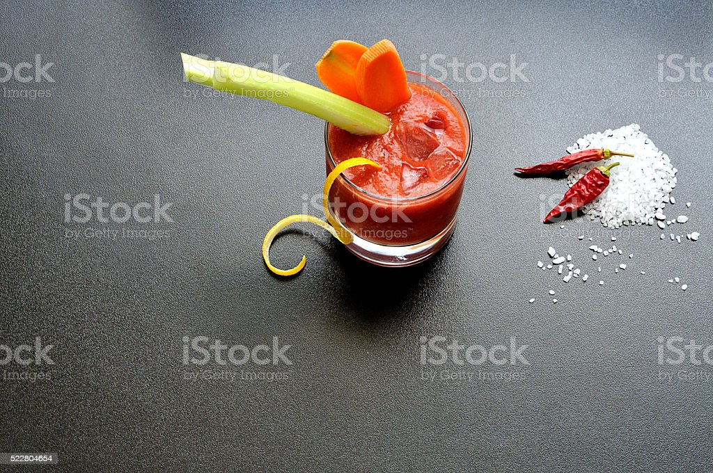 Virgin Mary, cocktail analcolico stock photo