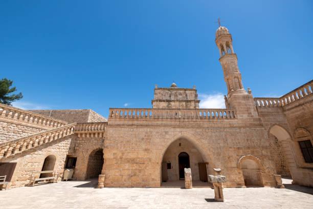 Midyat'taki Meryem Ana Manastırı, Mardin stok fotoğrafı