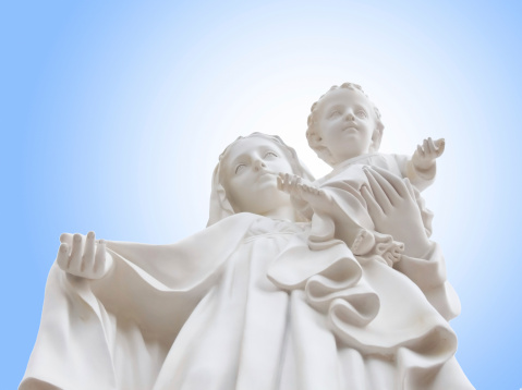 Virgin Mary mother of child Jesus