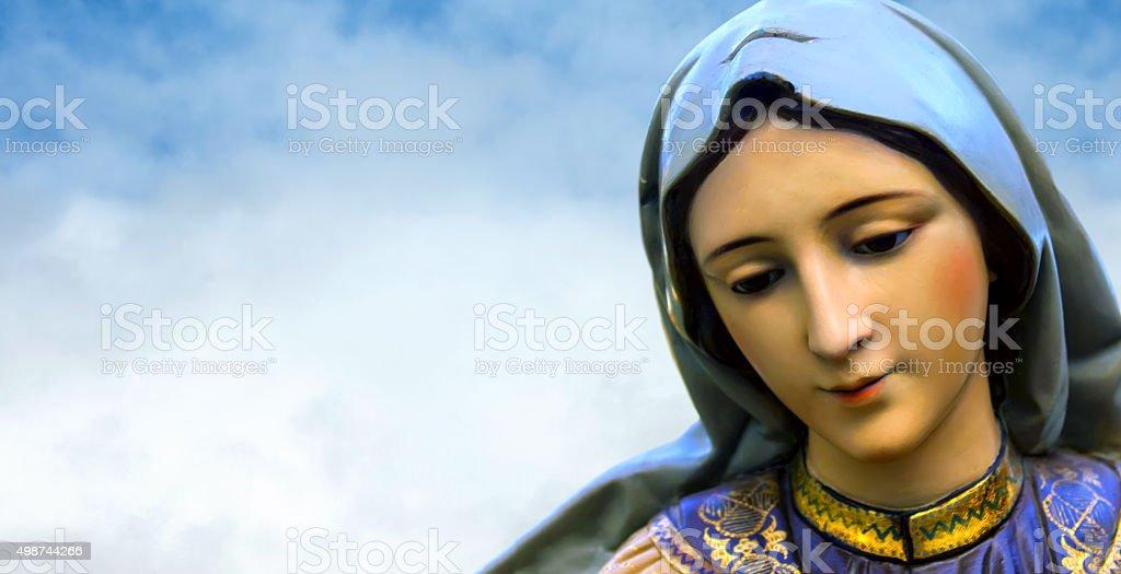 Virgin Mary mother of Jesus Christ stock photo