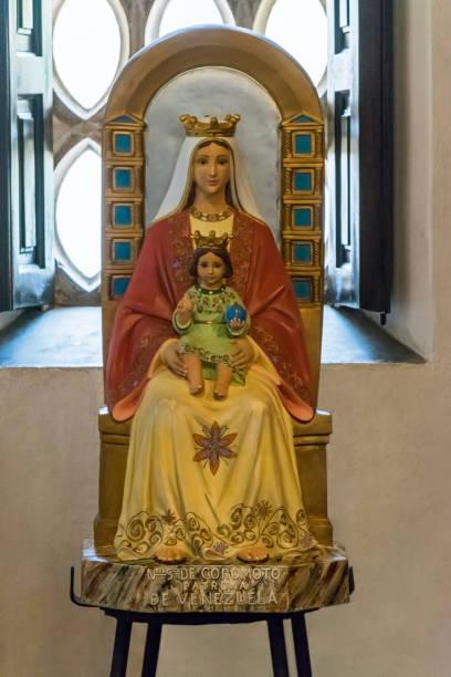 Virgin of Coromoto, patron saint of Venezuela - Our Lady of Coromoto stock photo