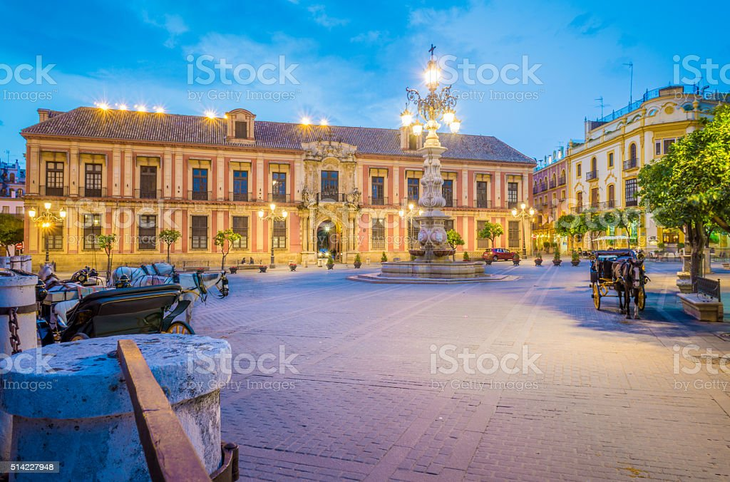 Virgen de los Reyes Square stock photo