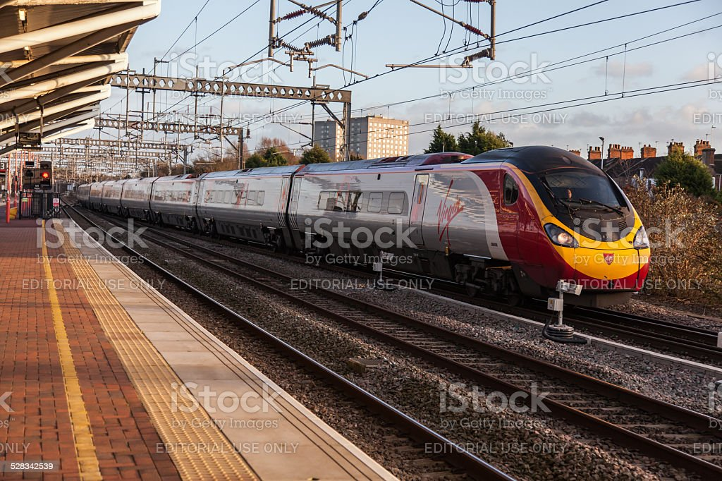 Virgin Pendolino Train stock photo