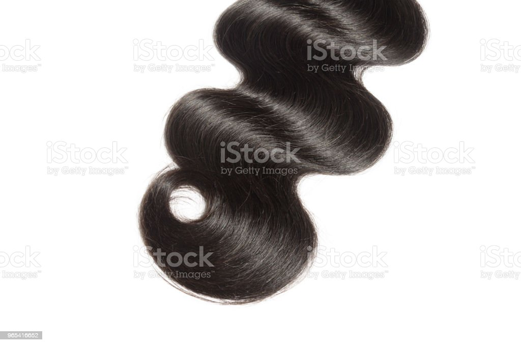 virgin remy body wavy black human hair weave extensions zbiór zdjęć royalty-free
