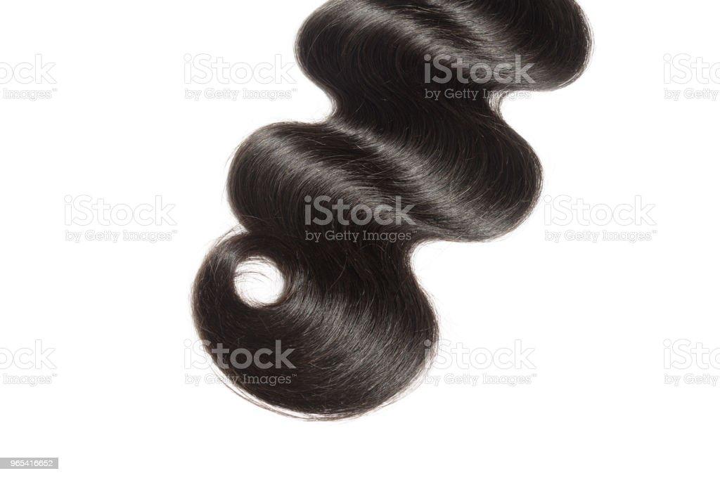extensions de tissage ondulés cheveux humains noire corps remy vierge - Photo de Beauté libre de droits