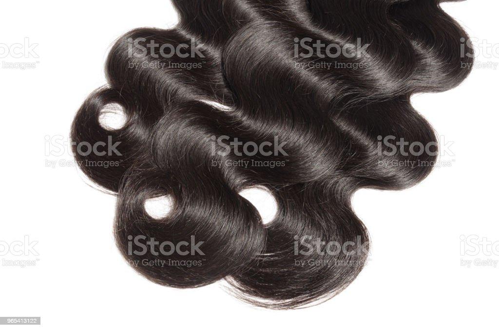 維爾米身體波浪黑色人的頭髮編織擴展 - 免版稅中國圖庫照片