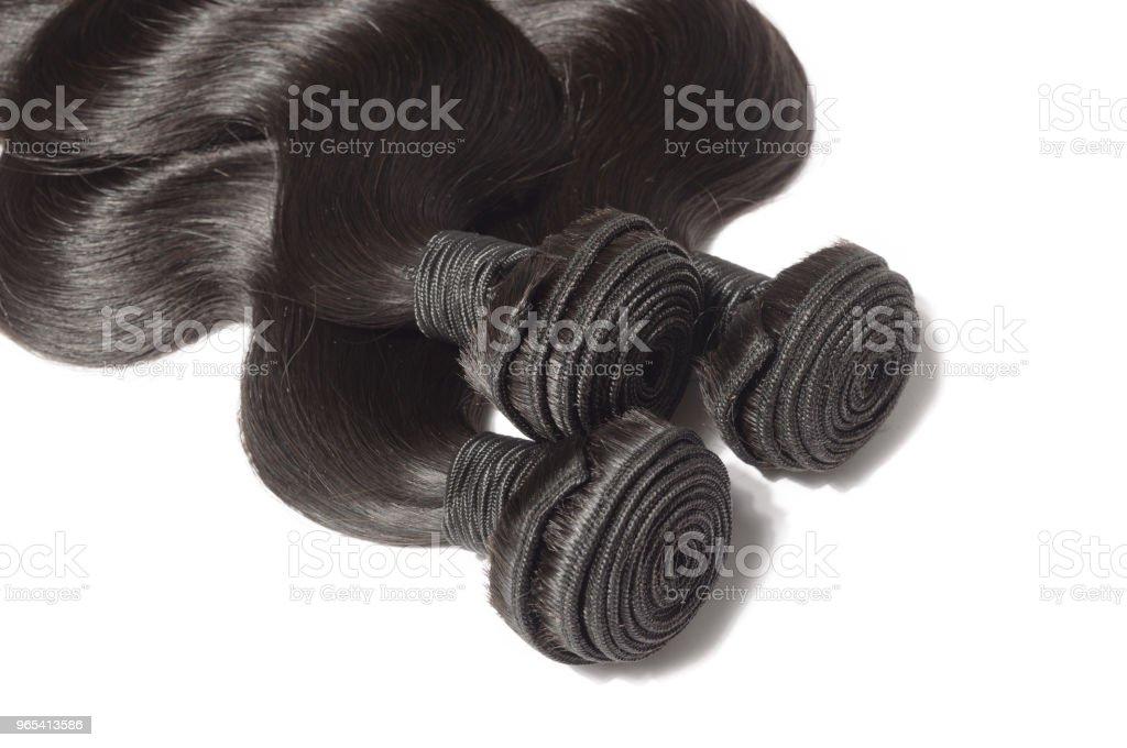virgin remy body wavy black human hair weaves extensions zbiór zdjęć royalty-free