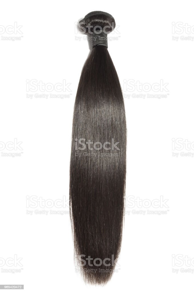 virgin remy straight black human hair weave extensions zbiór zdjęć royalty-free