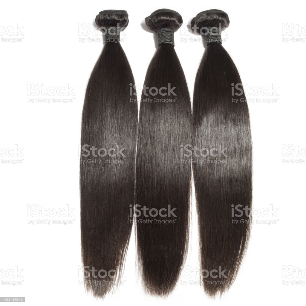 virgin remy straight black human hair weaves extensions zbiór zdjęć royalty-free