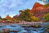 Virgin River, Zion National; Park, Utah, USA