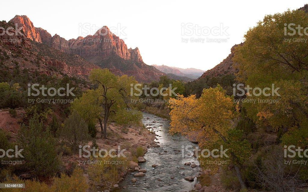 Virgin River Leading to the Watchman royalty-free stock photo