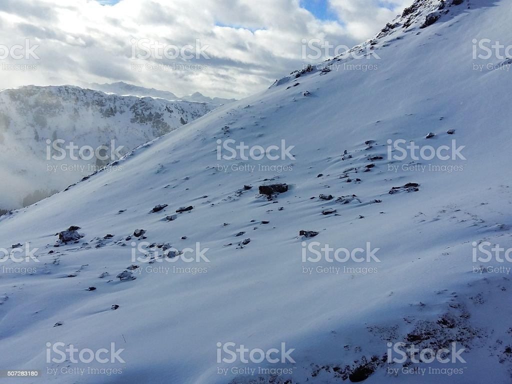 virgin snowcapes stock photo