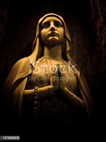 istock virgin statue in barcelona cathedral 157635928