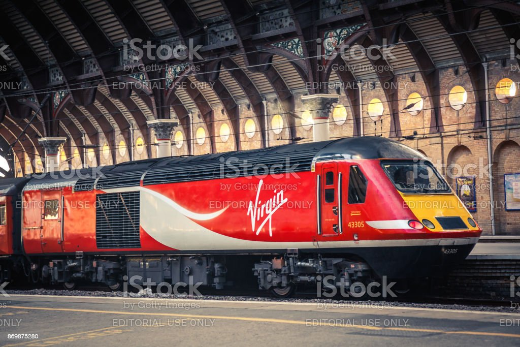 Virgin Train stock photo