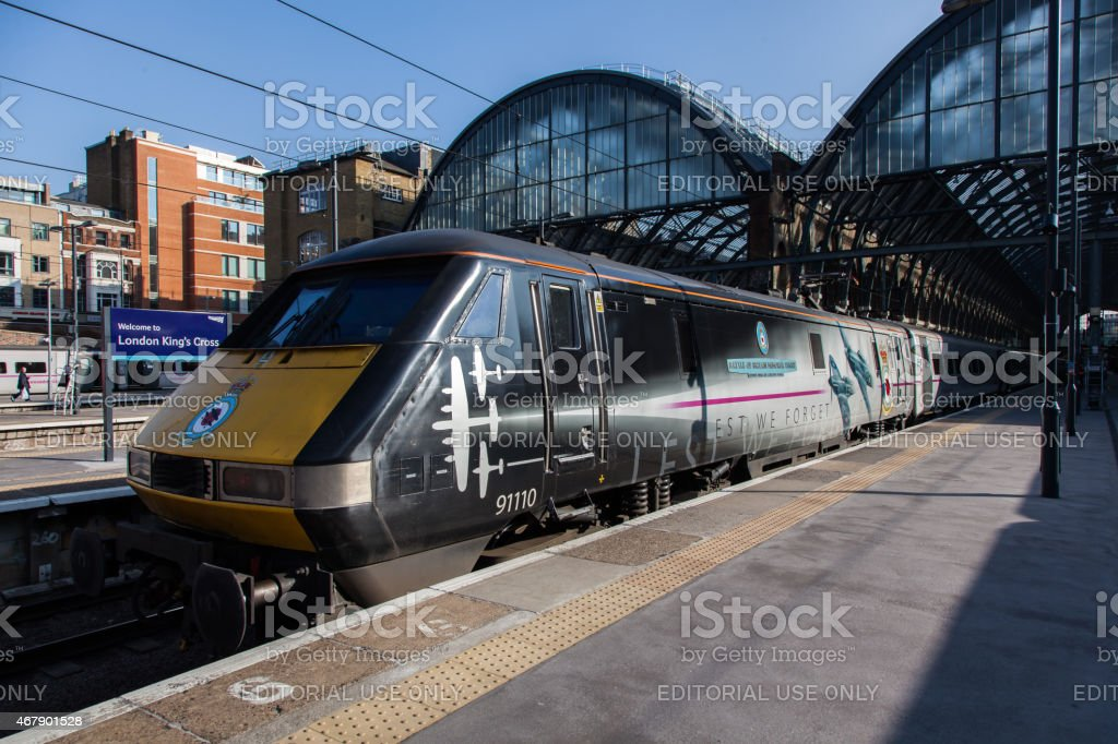 Virgin Trains East Coast HST trains at King's Cross Station stock photo