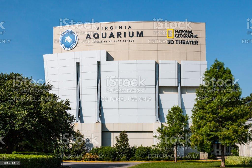 Virginia Aquarium and IMAX Theater in Virginia Beach, Virginia stock photo