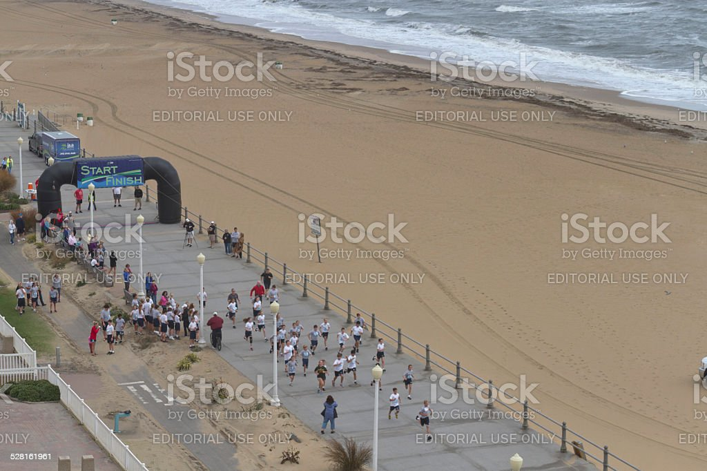 Virginia Beach Boardwalk Race Stock Photo & More Pictures of