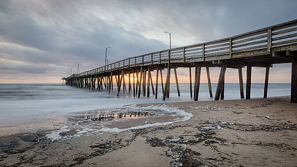 Virginia Beach Fishing Pier stock photo