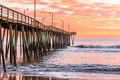 Fishing pier at dawn