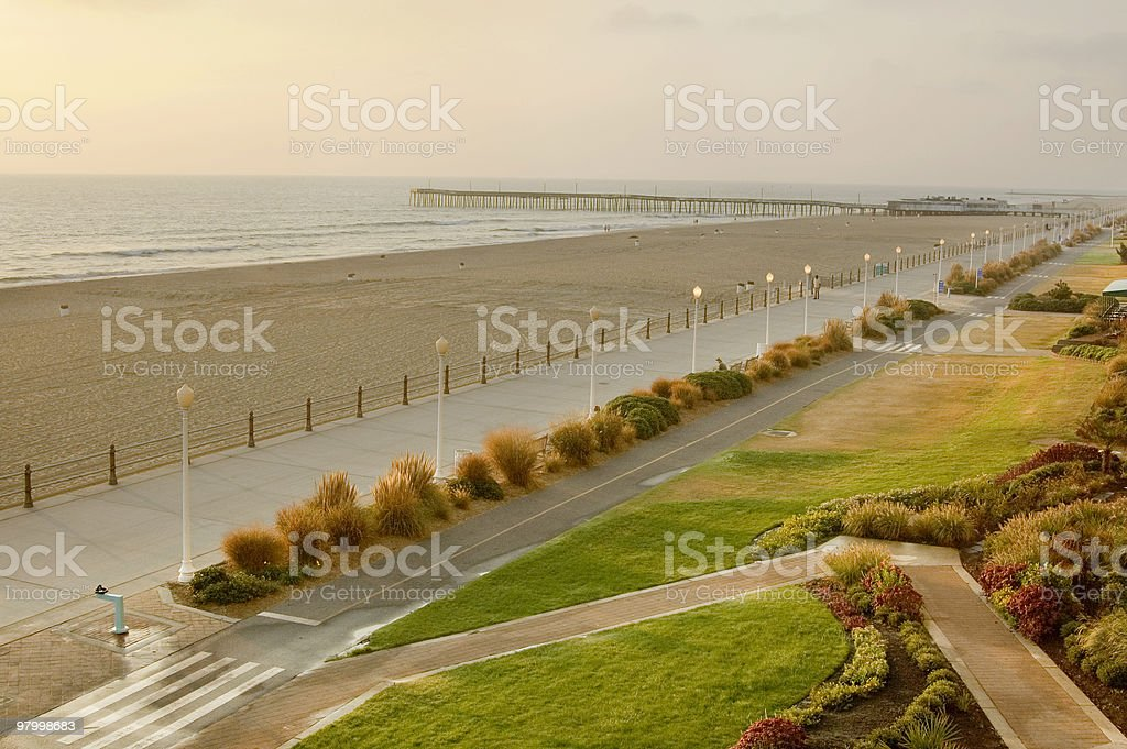 Virginia Beach Morning royalty-free stock photo