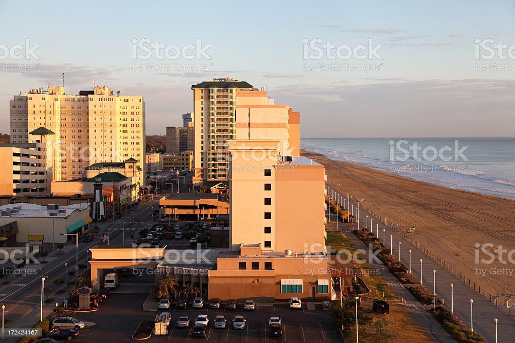 Virginia Beach Oceanfront royalty-free stock photo